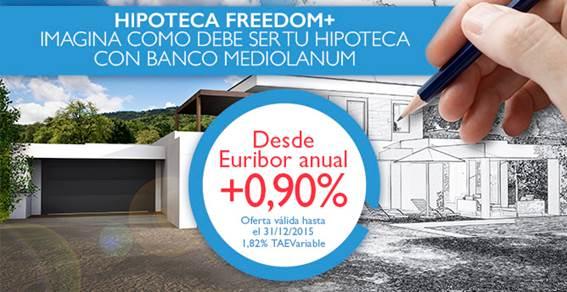 Banco Mediolanum lanza una nueva oferta hipotecaria desde Euribor + 0,90%