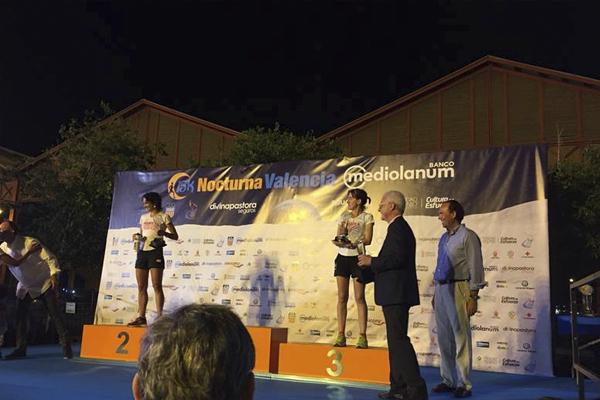 15K Nocturna Banco Mediolanum podio de ganadores
