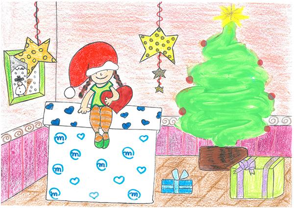 """Ganadora """"Dibuja la Navidad"""" 2018"""