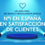 Banco Mediolanum es una vez más líder en satisfacción de clientes de España