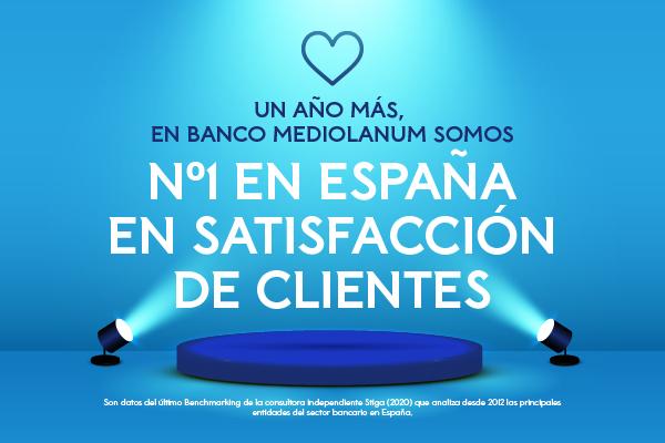 Banco Mediolanum líder satisfacción de clientes