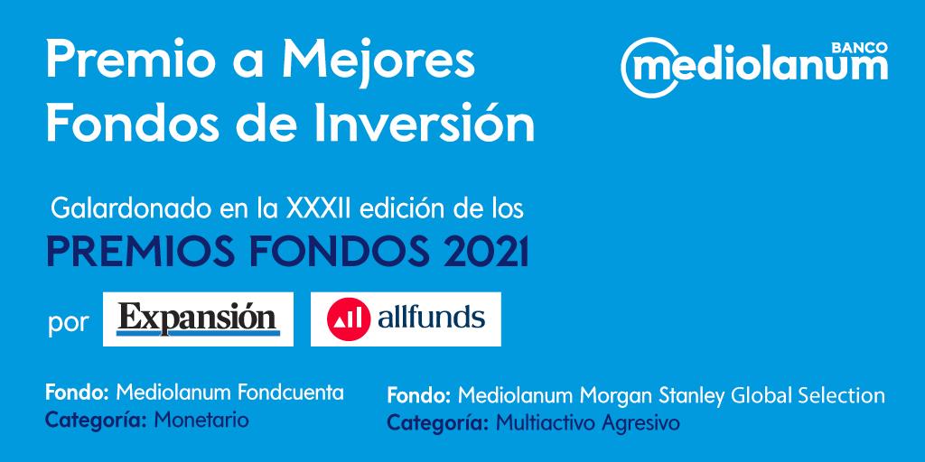 Dos fondos de inversión de Mediolanum galardonados por Premios Fondos Expansión-Allfunds 2021